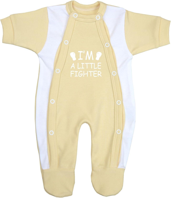 Babyprem Preemie Baby Footie Sleeper Little Fighter Clothes 1.5-7.5lb