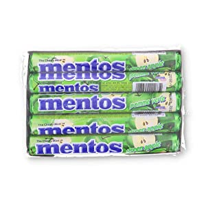 Mentos Roll Chewy Green Apple, 15 Count (MINTS - Misc.)