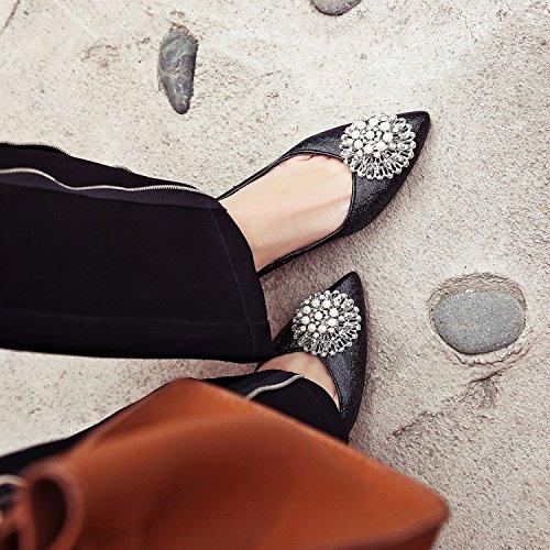 D'été Femmes Chaussures Black De On Toe Pointu Bal à Hauts Sandales Talons Hauts Slip Chaussures Talons Sandales Femmes Shallow Chaussure qvnFFE