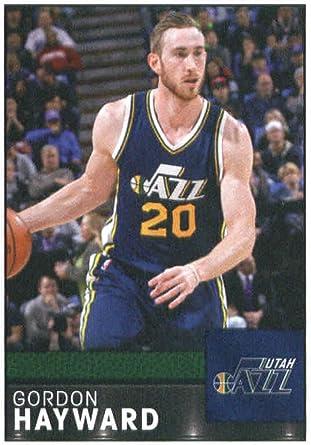 Amazon Com 2016 17 Panini Stickers 298 Gordon Hayward Utah Jazz Basketball Sticker Collectibles Fine Art