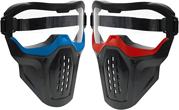 Fury Strike 2 Pack Tactical Face Mask Gafas Protectoras ...