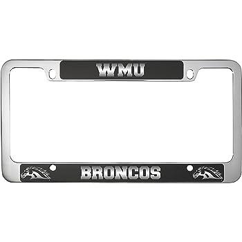 Western Michigan University-Metal License Plate Frame-Black high ...