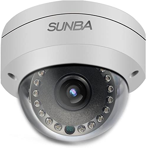 Sunba PoE 2MP 1080P H.265 3.6mm Night Vision 65ft Outdoor Fixed Dome IP Network Camera FT-HD