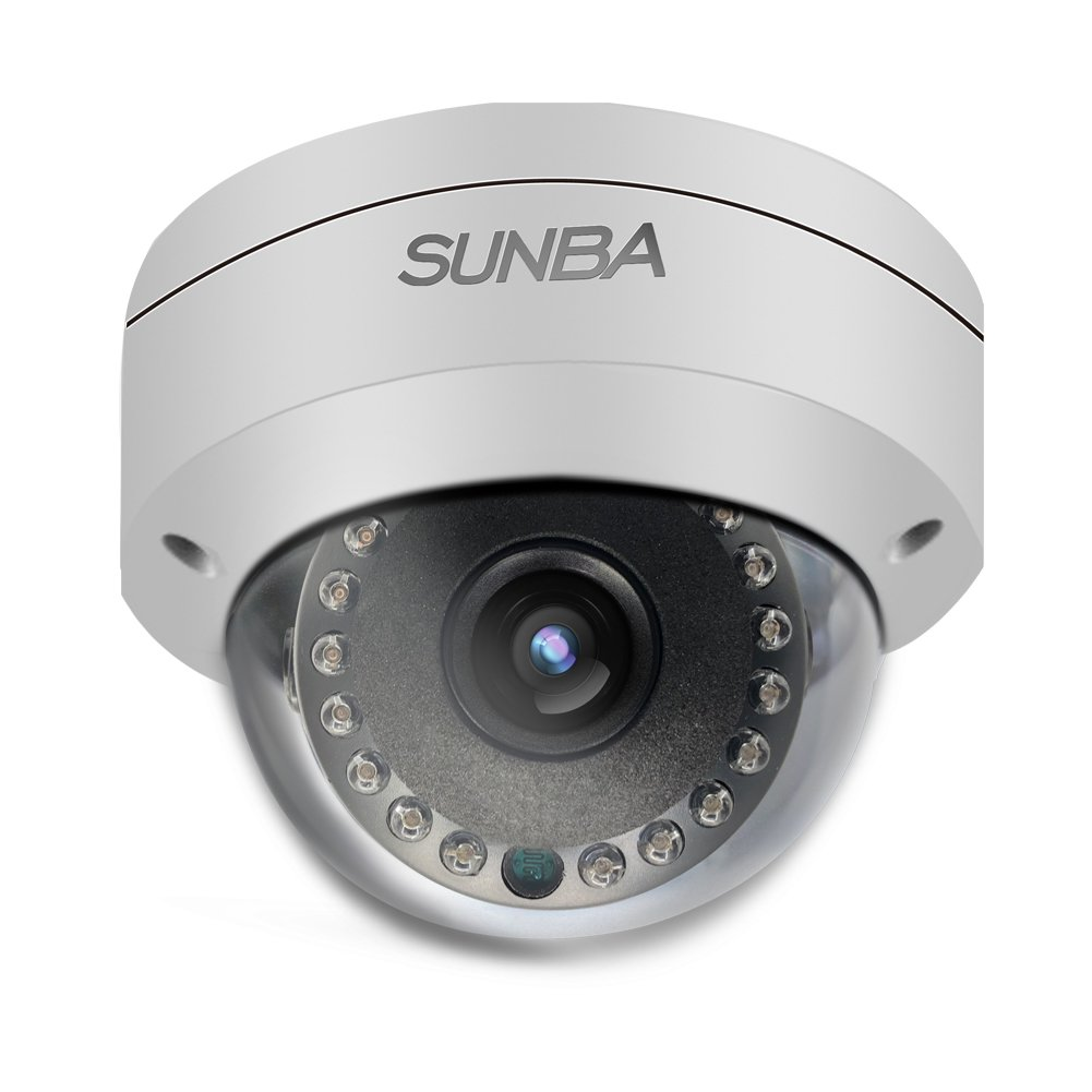 Sunba PoE 2MP 1080P H.265 3.6mm Night Vision 65ft Outdoor Fixed Dome ONVIF IP Network Camera FT-HD
