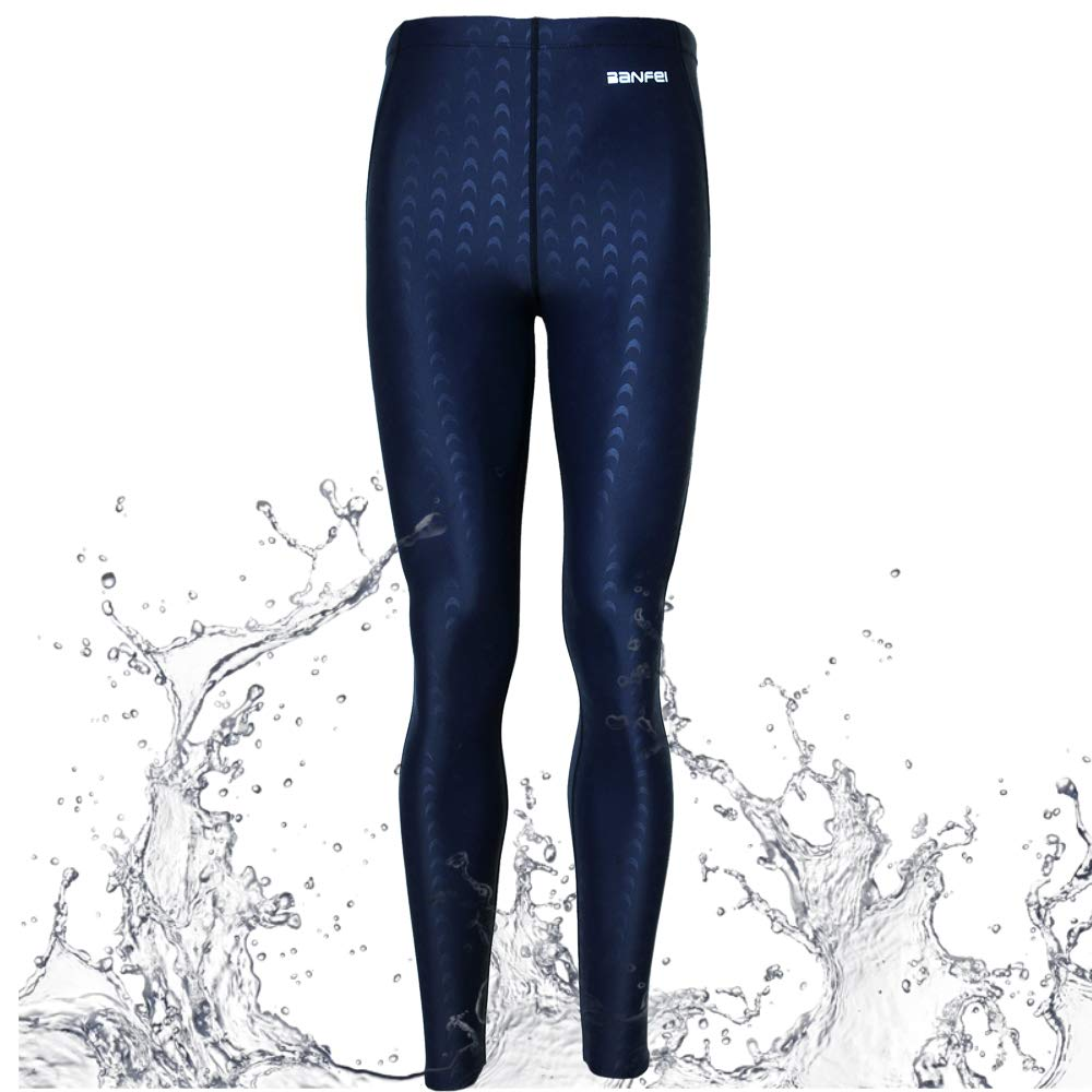 VANPIE Mens Swim Pant Quick Dry Swimming Base Layer Wetsuit Legging Scuba Diving Pants Warm Blue M by VANPIE