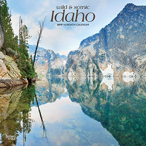 Idaho, Wild & Scenic 2019 12 x 12 Inch Monthly Square Wall Calendar, USA United States of America Rocky Mountain State Nature