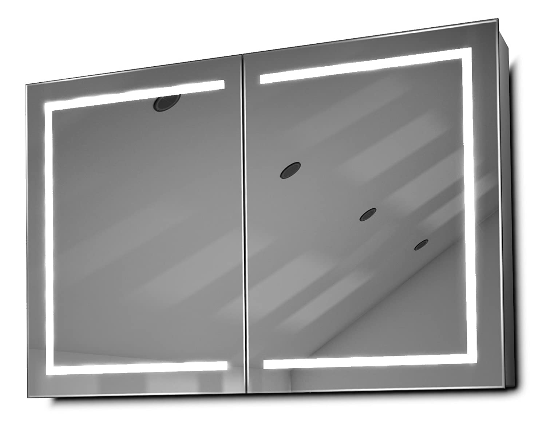 DIAMOND X COLLECTION Lea LED Bathroom Mirror Cabinet with Demister Pad, Sensor Shaver k374