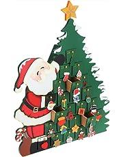 Calendario dell'Avvento Babbo Natale | in legno | con cassetti da riempire