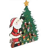 Deuba Adventskalender zum befüllen | Kinder Weihnachts Kalender 2018 Selber Befüllen | Weihnachtsmann DIY Holz Türchen Deko
