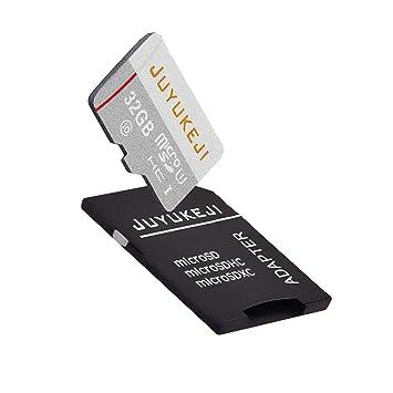 JUYUKIJI Micro SD Card 32GB con adaptador, clase 10 UHS-1 de ...