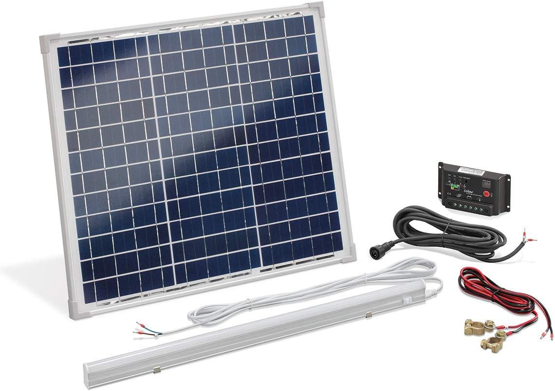 Solarstrom-Set 30 Watt mit LED-Leuchte