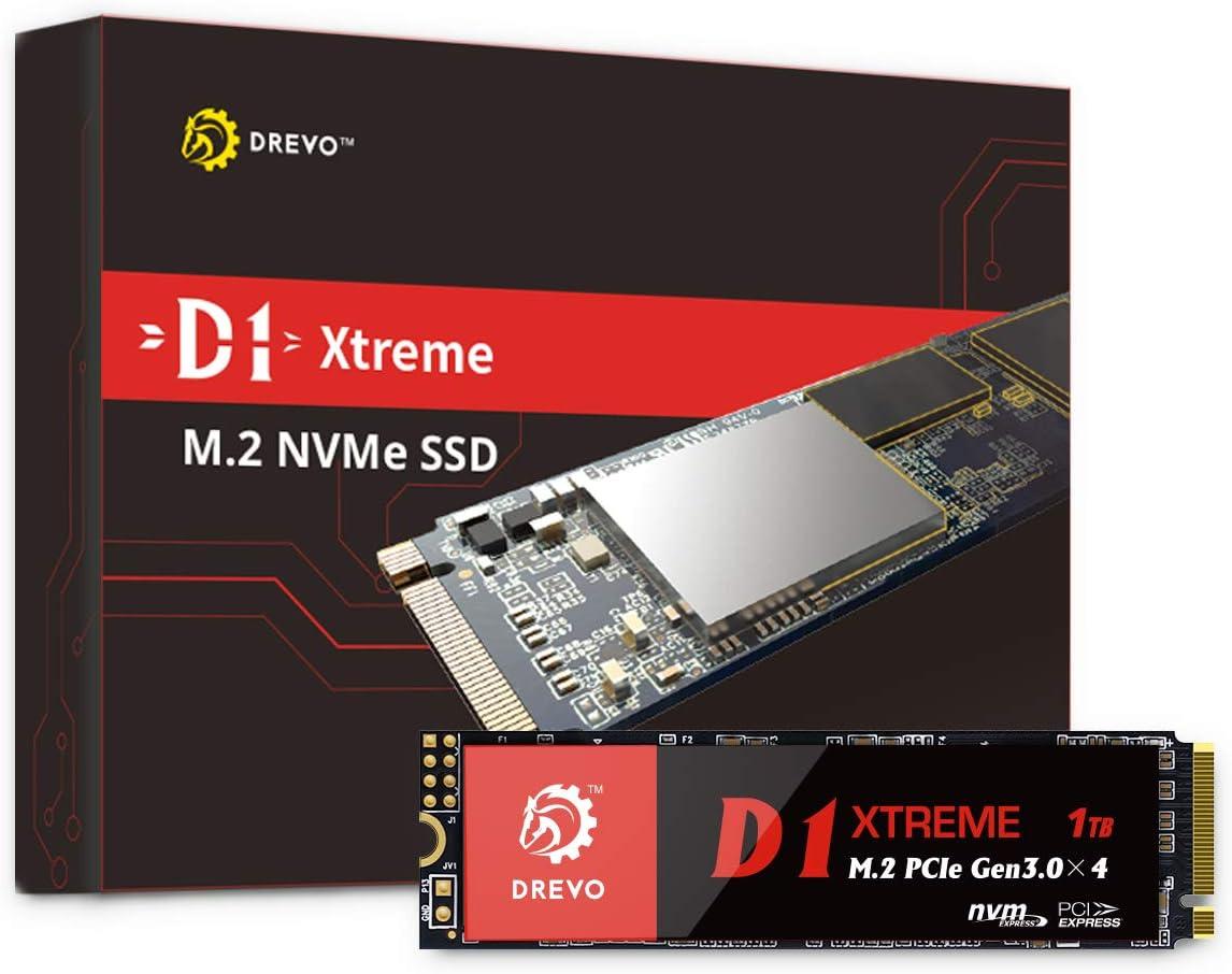 DREVO D1 Xtreme PCIe Gen3x4 NVMe SSD 1TB M.2 2280 Unidad de Estado ...