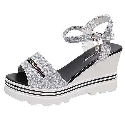 0819870c724e5 Amazon.com: ❤ Mealeaf ❤ Fashion Women Summer Pumps Platform ...