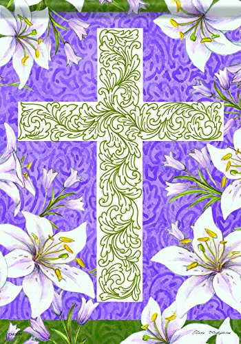 Carson Home Accents FlagTrends Classic Garden Flag, Easter C