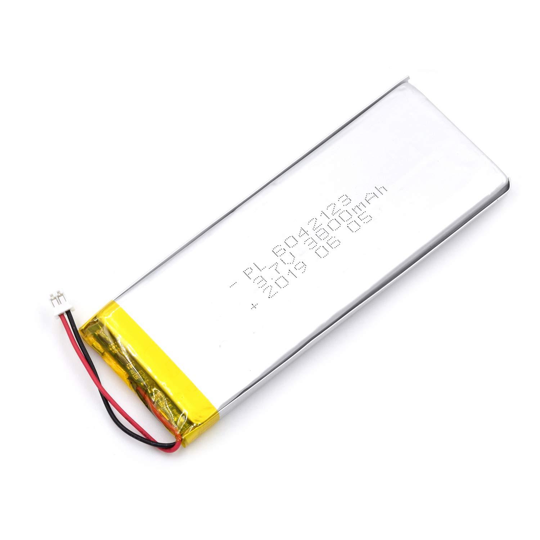 Bateria Lipo 3.7V 3800mAh 6042123 Recargable JST Conector