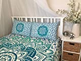 Tanya Handicrafts Queen/Full size Mandala Tapestry, Mandala Wall Art, Hippie Wall Hanging,Bohemian Bedspread,Indian Cotton Bedspread with 2 Pillow Covers, by