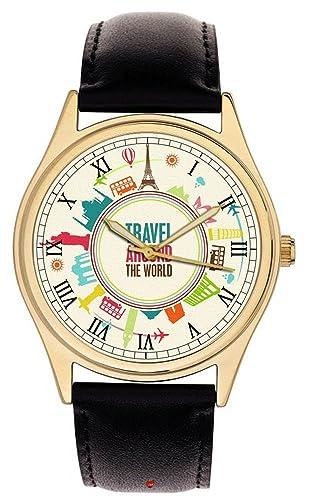 Viaje Por El Mundo, Beautful World Travel Perpetual Turístico Reloj de Muñeca coleccionable: Amazon.es: Relojes
