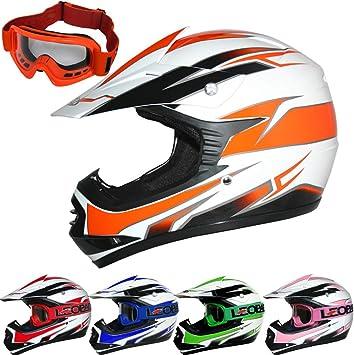 Green XL Leopard LEO-X16 Kids Motocross Helmet Children Quad Bike Crash Motorbike ATV Helmet 55cm