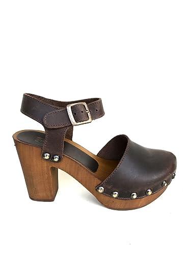Damen Sandalen, Schwarz - Schwarz - Größe: 40 EU Divine Follie