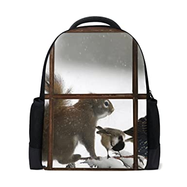 617a4b886f5 Image Unavailable. Image not available for. Color: Imobaby Chriestmas  Squirrel School Backpack for Girls Boys ...