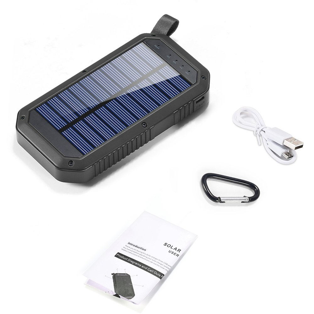 Solar Charger 8000mAh, BESWILL 3 USB Ports and 21 LED light Portable Solar External Battery Power Bank Phone Charger for iPhone, iPad, Samsung, Android and other Smart Devices by BESWILL (Image #7)