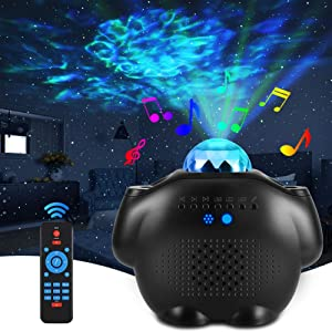 ALOVECO Star Projector Night Light with Bluetooth Speaker Galaxy Projector with Remote Nebula Cloud Voice Control LED Sky Lights for Kids,Bedroom,Game Room, Home Planetarium Projector