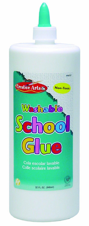 Charles Leonard Creative Arts- Bottle of White All-Purpose School Glue, AP Certified, 32 Ounce Bottle, White (46032)