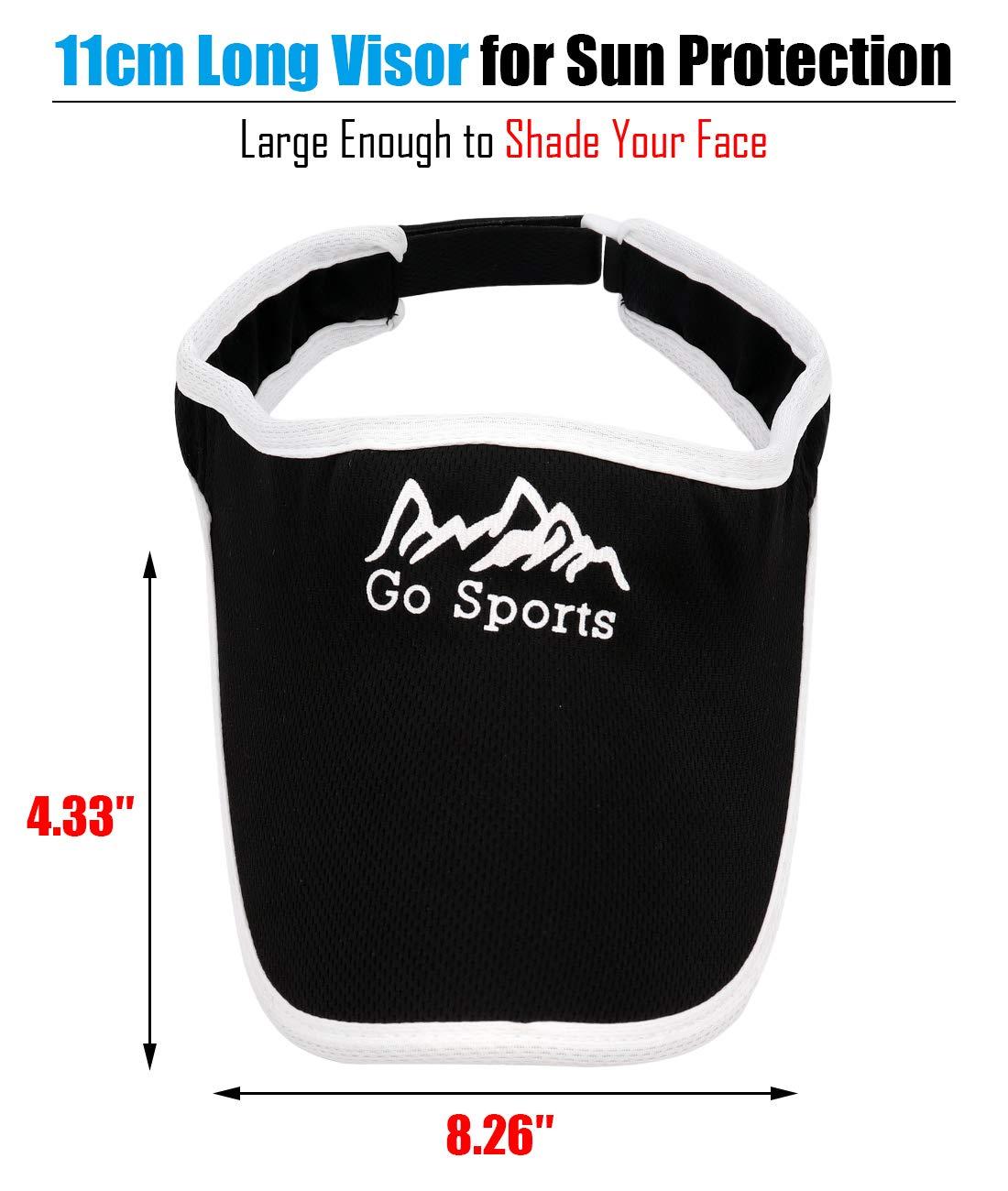 Gisdanchz Sport Sun Visors for Women and Men Big Visor UV Protection Tennis Cap