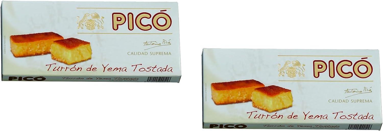 Picó - Pack incluye 2 Turron de Yema Tostada - Turron blando de Yema Tostada - Calidad Suprema - 200gr (Sin Gluten): Amazon.es: Alimentación y bebidas