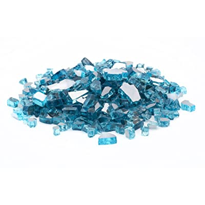 "Margo Garden Products 1/4"" 25lbs Dragon Glass, 25 lb, Caribbean Blue : Garden & Outdoor"