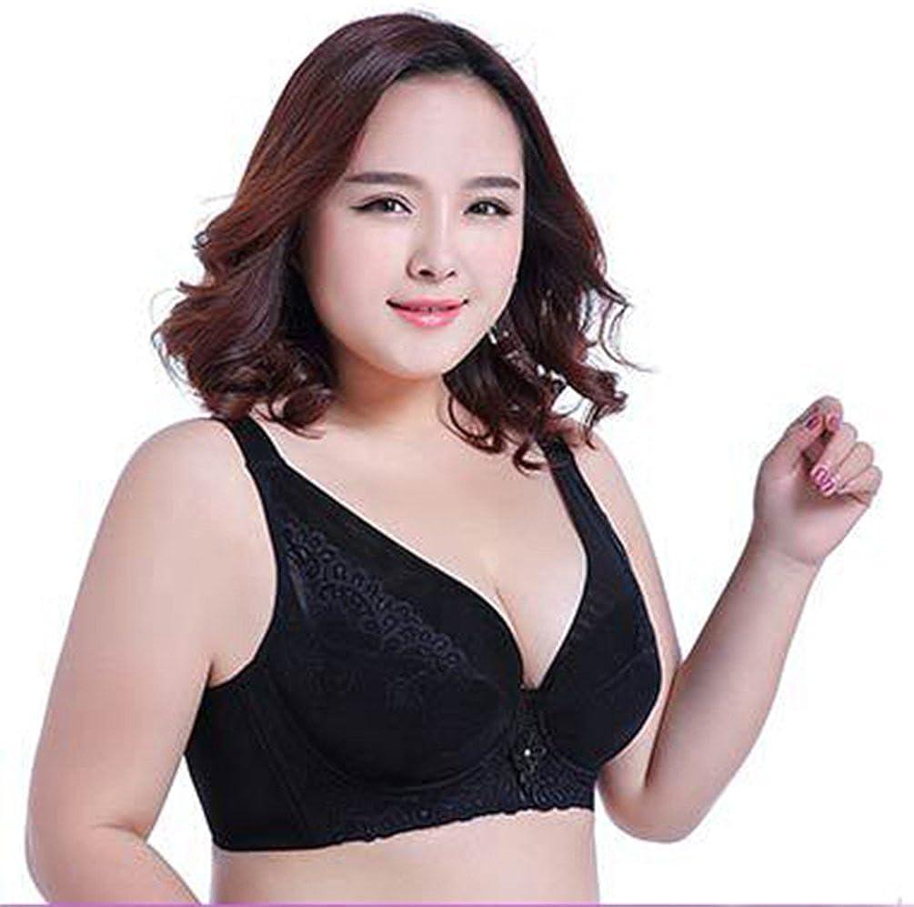 9a50b60e0a91 Yiiquan Encaje Sujetadores Push Up Mujer Forma Para Vestido Escote V Busto  Bajo Bra Negro 115F
