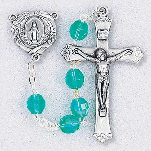 WJ Hirten 298EM Emerald Step Cut Round Beads