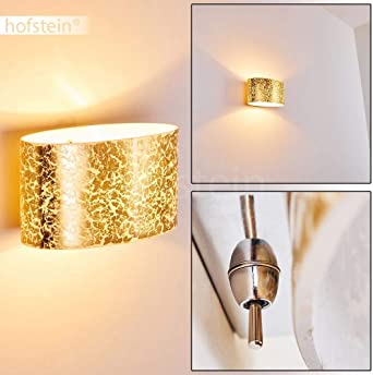 DEL Feuilles Design Mur Luminaire verre chambre éclairage chrome lampe couloir