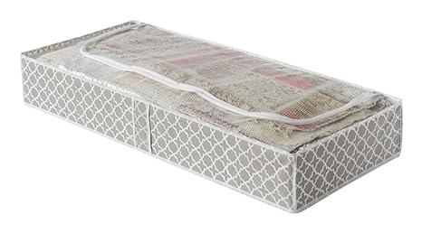 Compactor Taupe Home Zapatos Bolsa de Almacenamiento, Microfibra, Pardo y Blanco, 107 x 46 x 16 cm, Non-Woven 75G | Printing by Machine, Topo, No ...