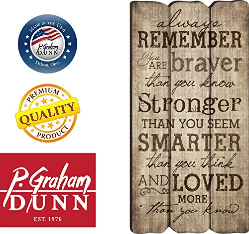 P. Graham Dunn Always Remember You Are Stronger Braver Smarter 12 x 6 Decorative Wall Art Sign Plaque by P. Graham Dunn (Image #3)