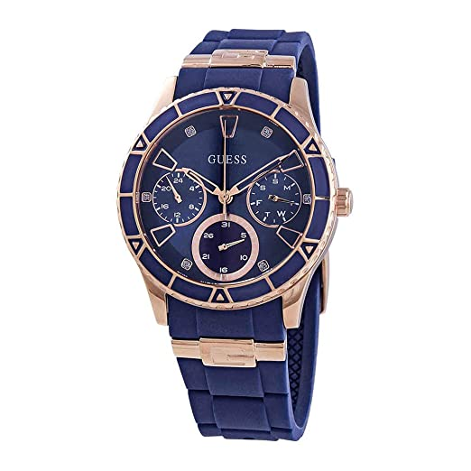 3c937af4fcf6 Buy Guess Analog Blue Dial Women s Watch-W1157L3 Online at Low Prices in  India - Amazon.in