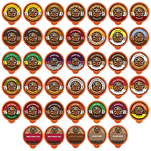 - Crazy Cups Flavored Coffee, for the Keurig K Cups 2.0 Brewers, Variety Pack Sampler, 40 Count
