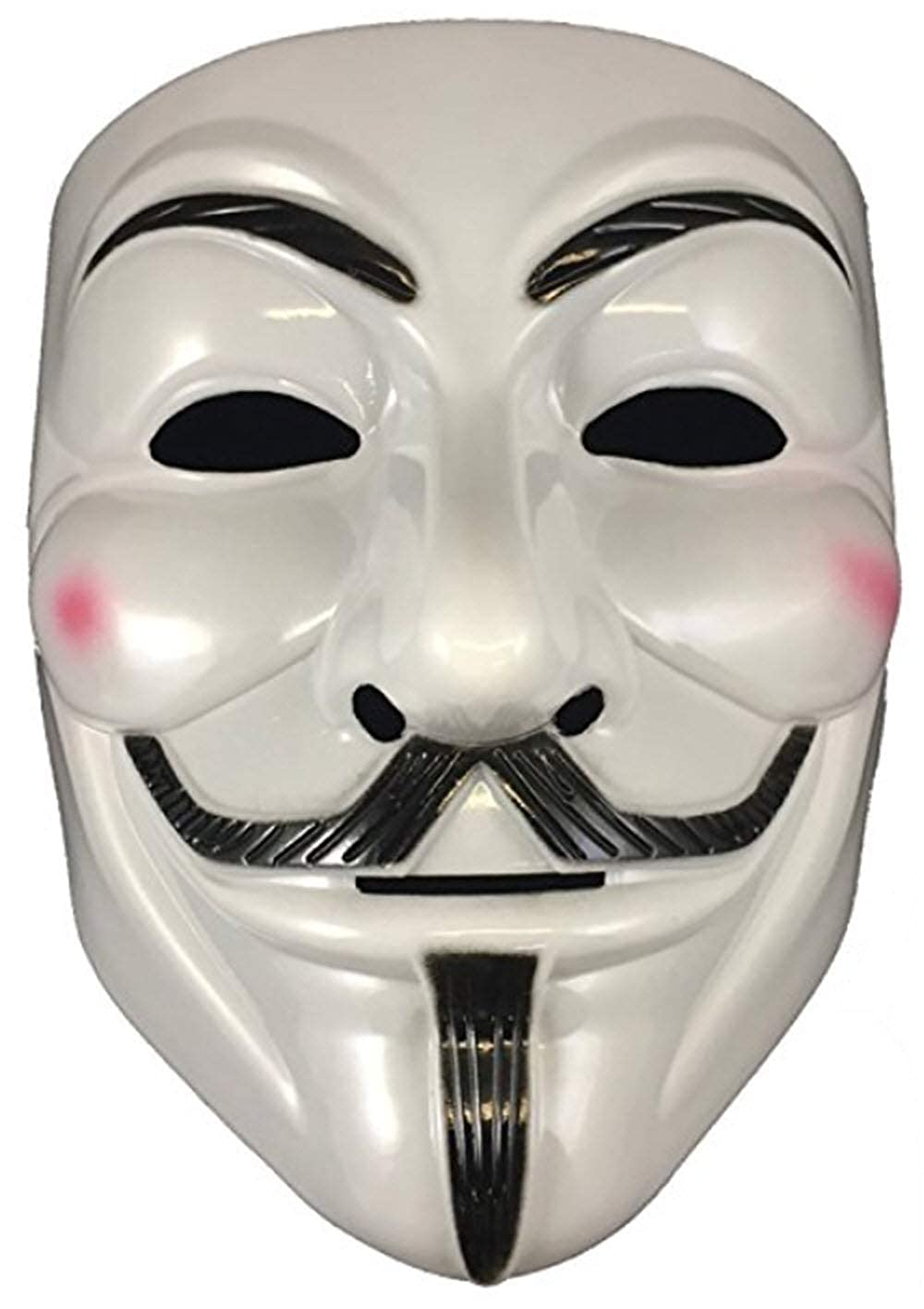 GnG's V Vendetta Anonymous Guy Fawkes Mask White Fancy Cool Costume Cosplay Mask Parties, Carnivals