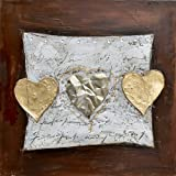 Yosemite Home Decor FCC5205S-2 Hearts of Gold Painted Wall Art