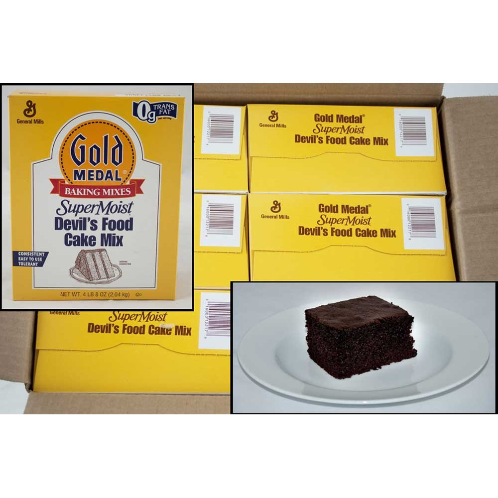 Supermoist Devils Food Cake Mixes 6 Case 4.5 Pound by General Mills