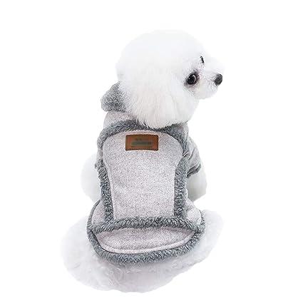TianBin Sudadera para Mascota, Ropa de Gato Perro Pequeño Otoño e Invierno Chaqueta con Capucha
