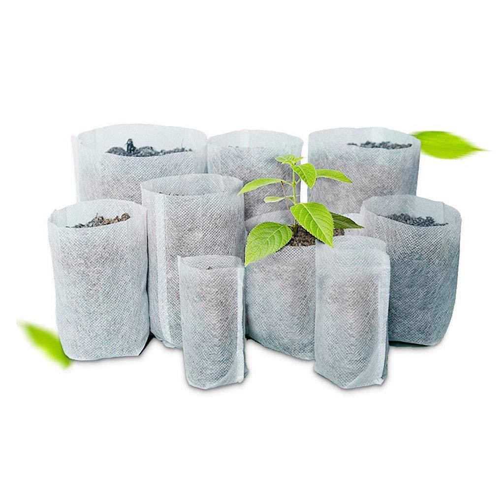 5cm 4.13in Autone 100pcs Nursery Pots Seedling Raising Bags Non Woven Fabrics Garden Supplies 1.97in x10.5cm