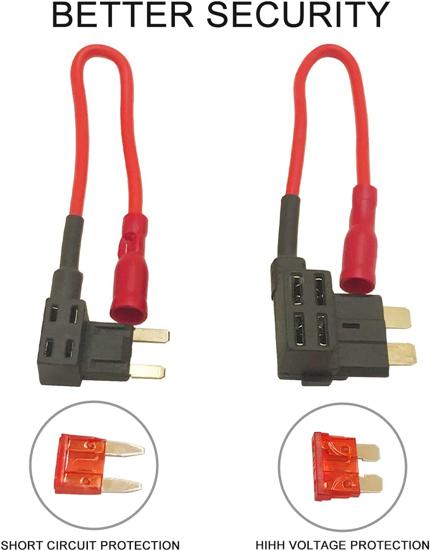FLYFLY Dash Camera Kit de Cable Duro con Micro USB Direct Hardwire Cargador 12V-24V a 5V para HD Pro y Micro USB Dashboard Camera Fuente de alimentaci/ón Cargador de Coche GPS Car DVR Power Box