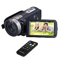 """Videocamere per fotocamera HuiHeng Full HD Digital Mini Handheld videocamera digitale con visione notturna a infrarossi 24.0 Mega pixel DV 3 """"schermo LCD zoom 18x"""