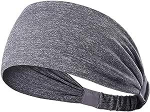 El/ástico Cintas de Pelo Yoga Cinta para el Sudor Ciclismo 8 Piezas Diadema Deportiva para Hombres y Mujeres Viajar Diadema Ancha Antideslizante Bandas de Cabeza Turbante para Fitness Carrera