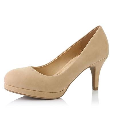 b8658d952b18 DailyShoes Women s Classic Ankle Strap Platform Low Heels Round Toe Party  Dress Pumps Shoes