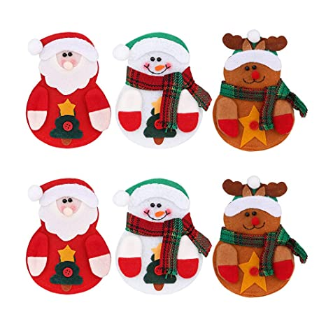 Amidaky - 6 bolsas de Navidad para cubiertos de cocina ...