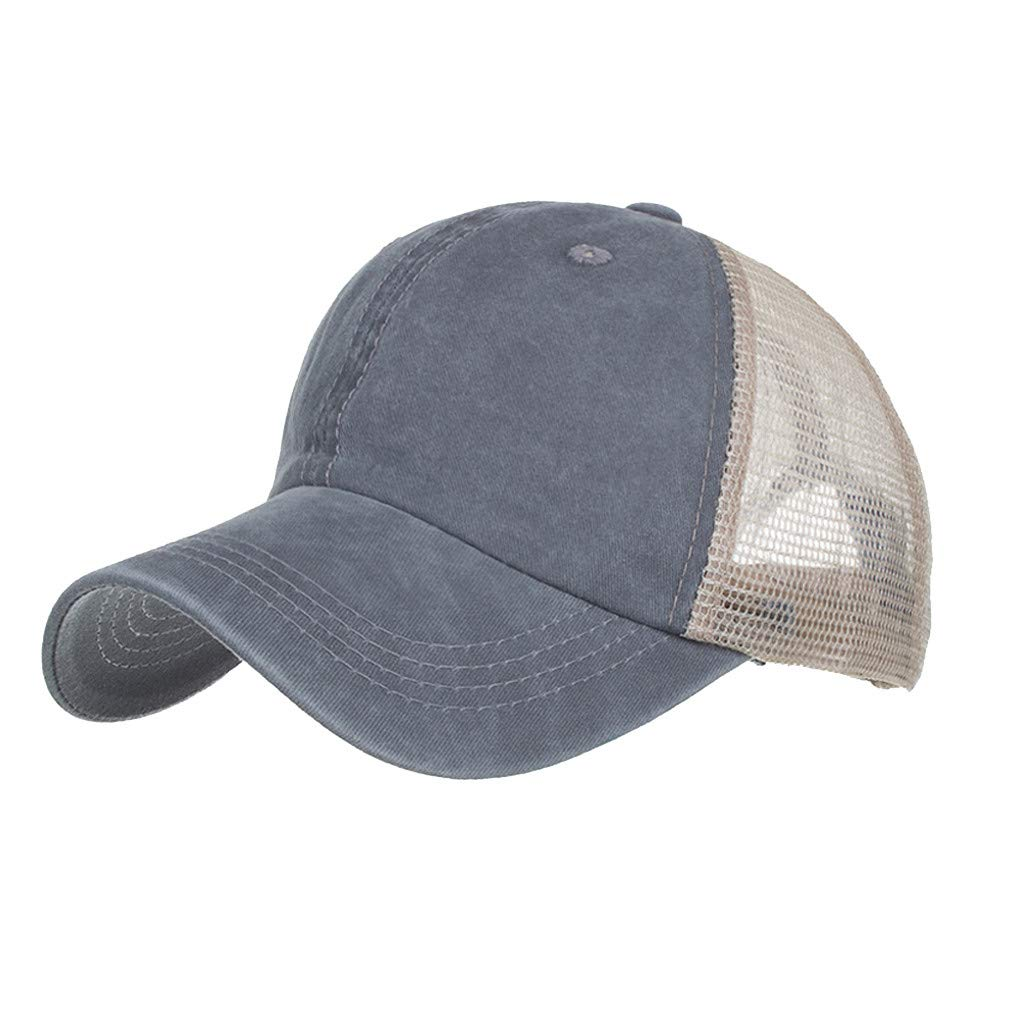 Outdoor Sport Hats Unisex Summer Baseball Cap Washed Cotton Hat Casual Cap Gray