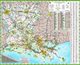 48x58 Louisiana State Official Executive Laminated Wall Map