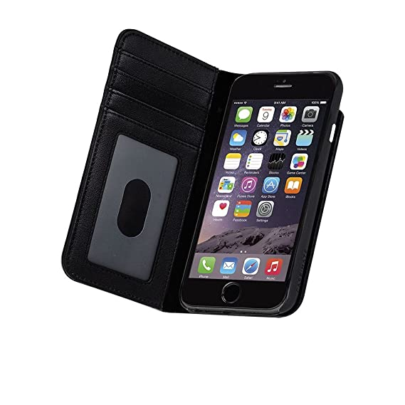 low priced 22f5e cc4b5 Case Mate Apple iPhone 6/6s/7/8 Wallet Folio Case - Black